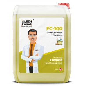 Kleen Force FC-100 Multi-Surface Cleaner-cum-Disinfectant With Quat Technology 5 Ltr